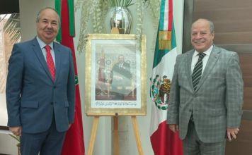 Embajador de Israel en México, Zvi Tal, y el embajador de Marruecos en México, Abdelfattah Lebbar