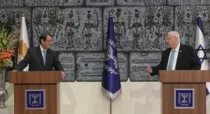 El presidente de Chipre y el presidente de Israel
