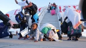 Olim de Etiopía al llegar a Israel