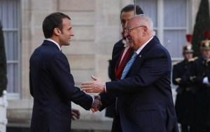 El presidente israelí, Reuven Rivlin y el presidente francés, Emmanuel Macron-investigación de la CPI contra Israel
