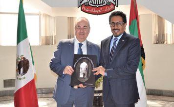 Embajador de Israel en México, Zvi Tal, y embajador de Emiratos Árabes Unidos en México, Ahmed Almenhali
