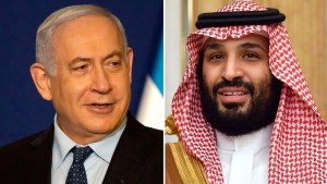 Benjamín Netanyahu y Mohammed Bin Salman