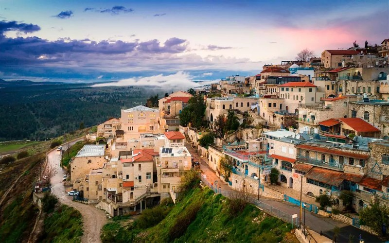 Vista panoramica de la ciudad de Safed en Israel