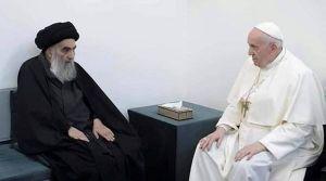 El Papa Francisco sostuvo una reunión histórica con el principal clérigo chiíta en la ciudad santa de Najaf en Irak