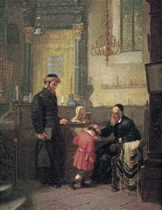 Bendición del rabino. Pintor judío Openheim