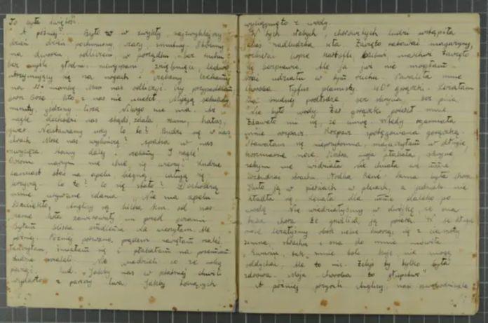 Páginas del diario de Eva Livne