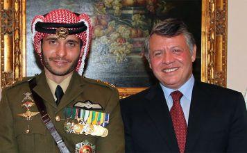 El rey Abdalá II y el príncipe Hamzah