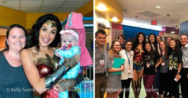 La estrella israelí en su visita al Hospital de Niños Inova en Virginia