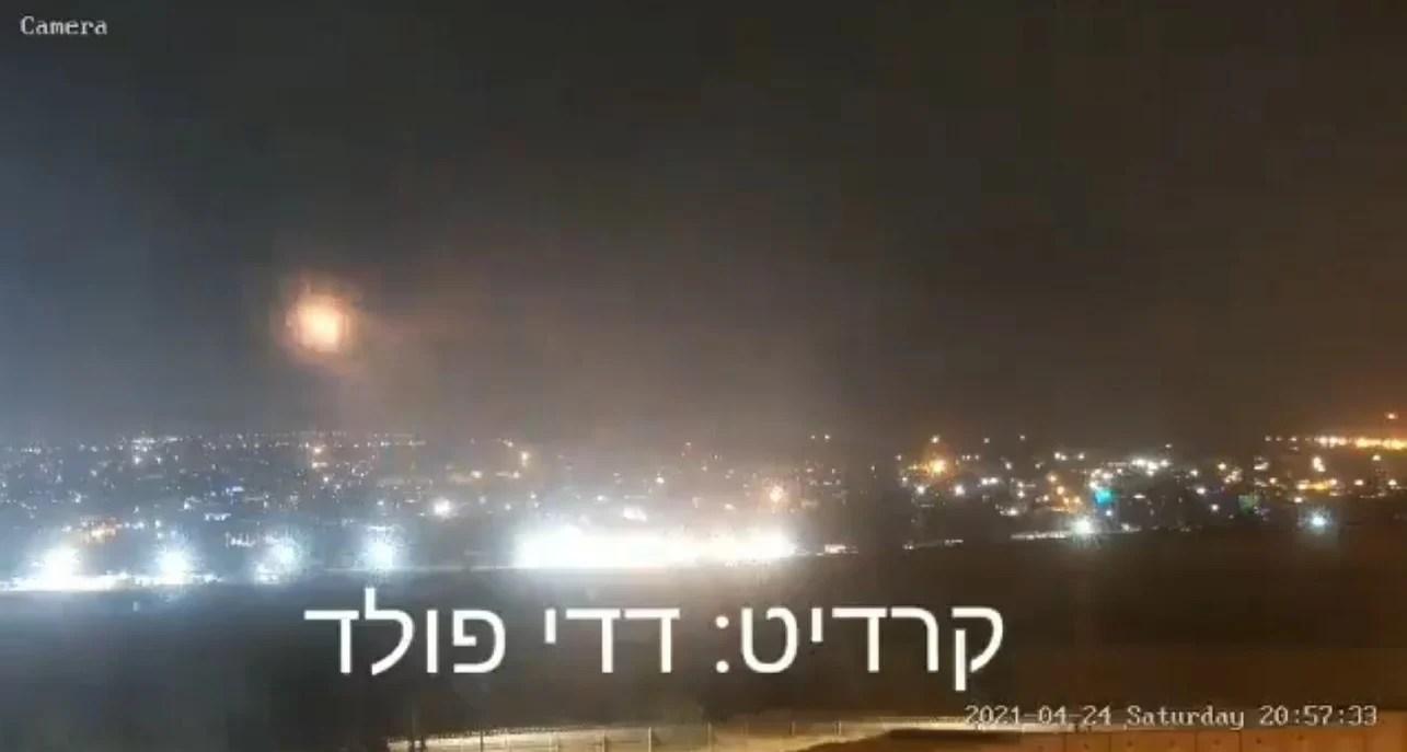 Cohete disparado desde Gaza