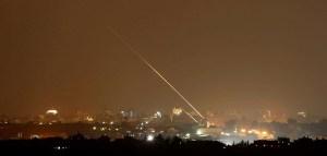 Cohete de Gaza hacia Israel