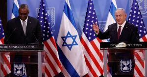 Benjamín Netanyahu y Lloyd Austin