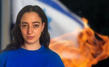 Gabriela dio unas palabras a Itzhack Lev, sobre lo que significó para ella haber encendido una antorcha en el Monte Herzl en Yom Haatzmaut