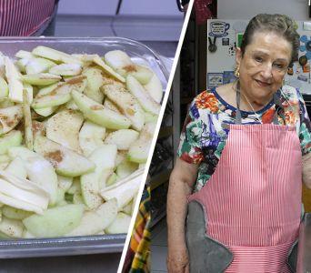 El metate de Irma: Pastel  de manzana frio