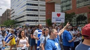 Manifestantes pro-Israel en Nueva York