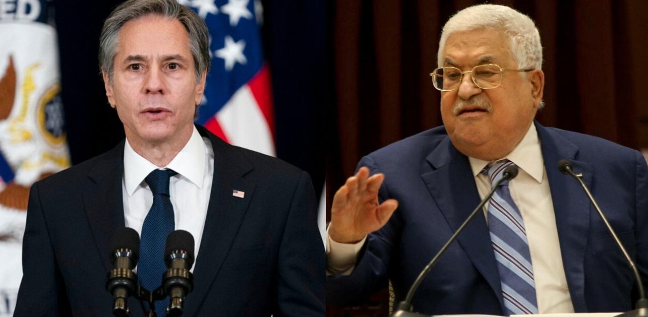 Antony Blinken y Mahmoud Abbas