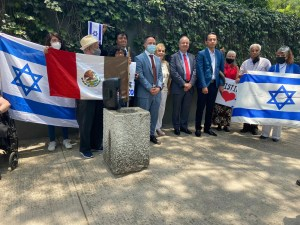 Se realizaron 2 manifestaciones a favor de Israel por parte de la ICEJ, en la Embajada de Israel en México, en Reforma y Zócalo capitalino