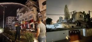 Casas destruidas en Gaza e Israel