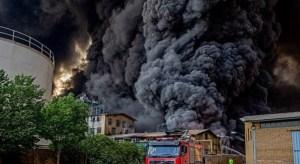 incendio en Irán
