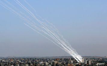 Cohetes disparados por Hamás contra Israel
