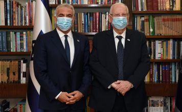 Yair Lapid y Reuven Rivlin