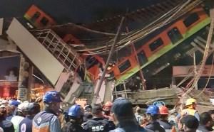 Zona del colapso de la Línea 12 del Metro de la Ciudad de México