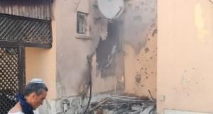 Casa en Sderot atacada desde Gaza