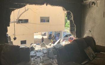 Edificio atacado en Israel