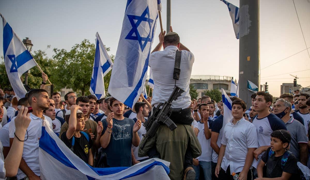 Desfile de banderas en Jerusalén