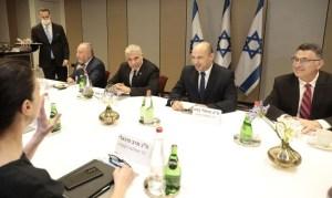 Miembros de la coalición de gobierno de Lapid y Bennett