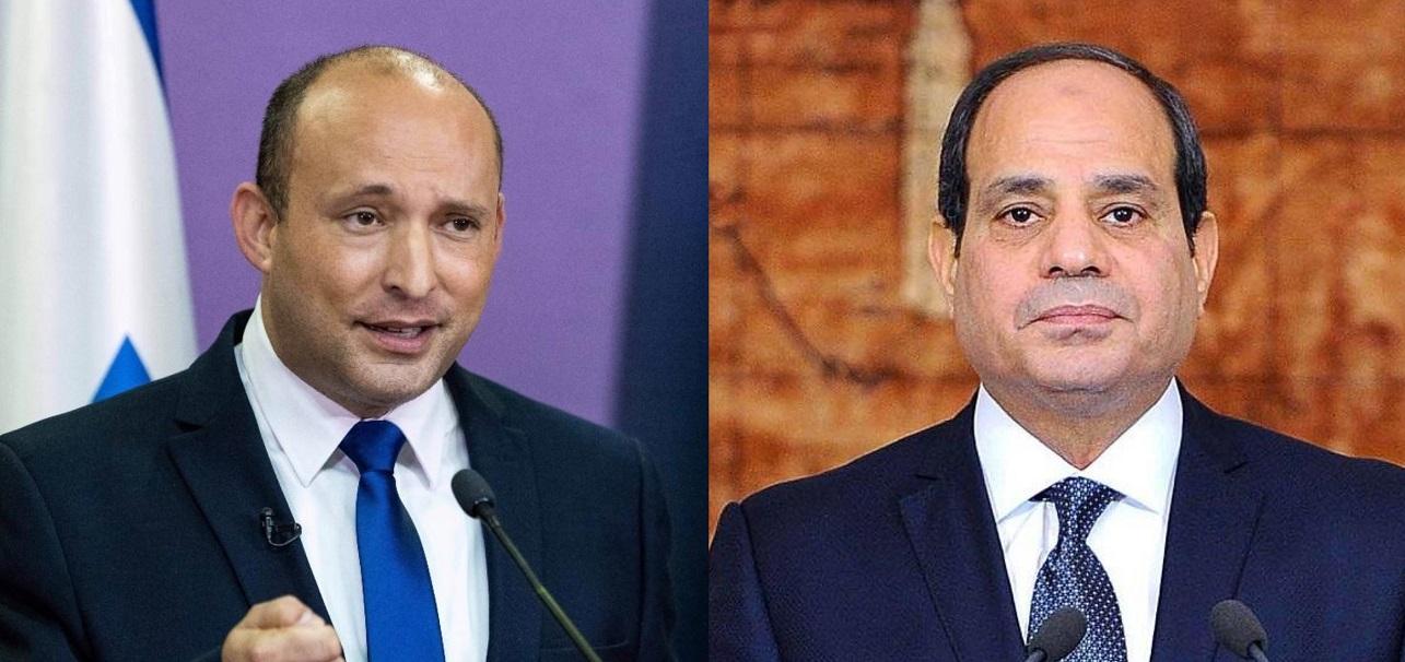 Naftali Bennett y Abdelfatah el Sisi