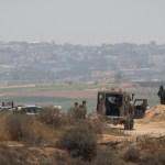 Tropas israelíes cerca de Gaza
