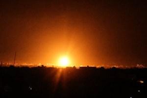 Imagen de un ataque aéreo israelí en Gaza