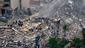 Sitio de colapso en Surfside, Miami