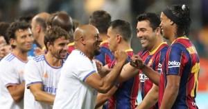 Jugadores del Real Madrid y Barcelona