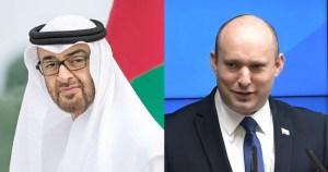 Naftali Bennett y Mohammed Bin Zayed al Nahyan