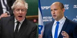 Boris Johnson y Naftali Bennett