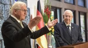 Frank-Walter Steinmeier y Reuven Rivlin