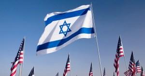 Banderas de Israel y de Estados Unidos