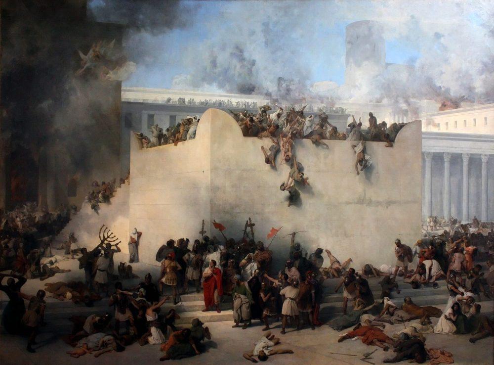 En la guerra judeo-romana alrededor de 1,100,000 judíos murieron, mientras que otros tantos fueron capturados y esclavizados