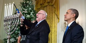Barack Obama y Reuven Rivlin
