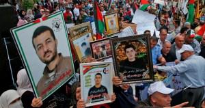 Palestinos en una manifestación