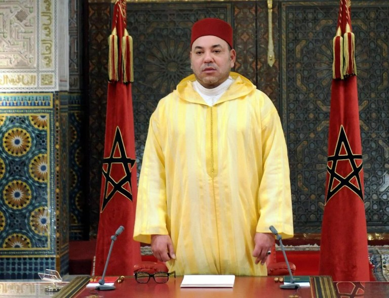 Su majestad el rey de Marruecos Mohammed
