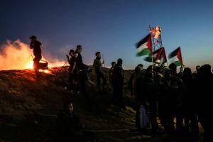 Palestinos planearon disturbios que tuvieran lugar a lo largo de la frontera de la Franja de Gaza con Israel el sábado por la noche
