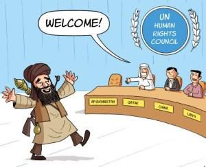 un talibán recibe la bienvenida de las demás naciones al Consejo de Derechos humanos de la ONU