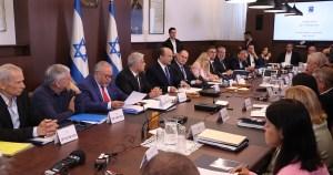 Gabinete de gobierno de Israel en una reunión