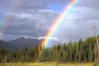 el arcoíris como uno de los símbolos