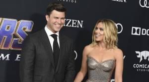 """Scarlett Johansson dio a luz a un hijo, Cosmo, con su esposo Colin Jost, escribió la estrella de """"Saturday Night Live"""" en su Instagram"""
