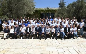 El presidente Isaac Herzog y el primer ministro Naftali Bennett ofrecieron a la delegación olímpica más exitosa de la historia de Israel en una ceremonia conjunta