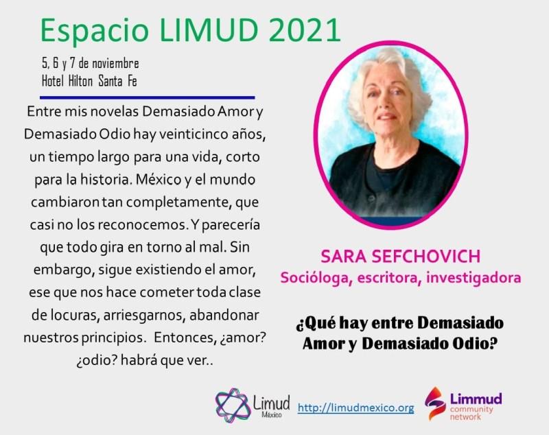 Sara Sefchovich en Espacio Limud 2021
