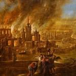 ¿Será un meteorito?Sodoma y Gomorra en fuego por Jacob Jacobsz de Wet, Wikicommons